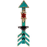 Turquoise Arrow Wood Wall Sconce
